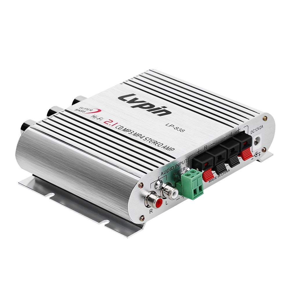12 V 20 W Mini Hi-Fi Amplificador de Coche Estéreo Amplificador ...