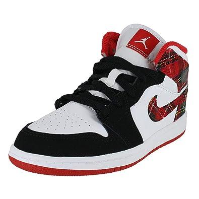buy online 1791c 763d2 Jordan Kids 1 MID BP University RED Black White Size 10.5