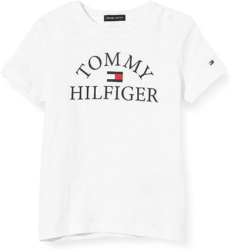 Tommy Hilfiger Essential Logo tee S/S Camiseta para Niños: Amazon.es: Ropa y accesorios