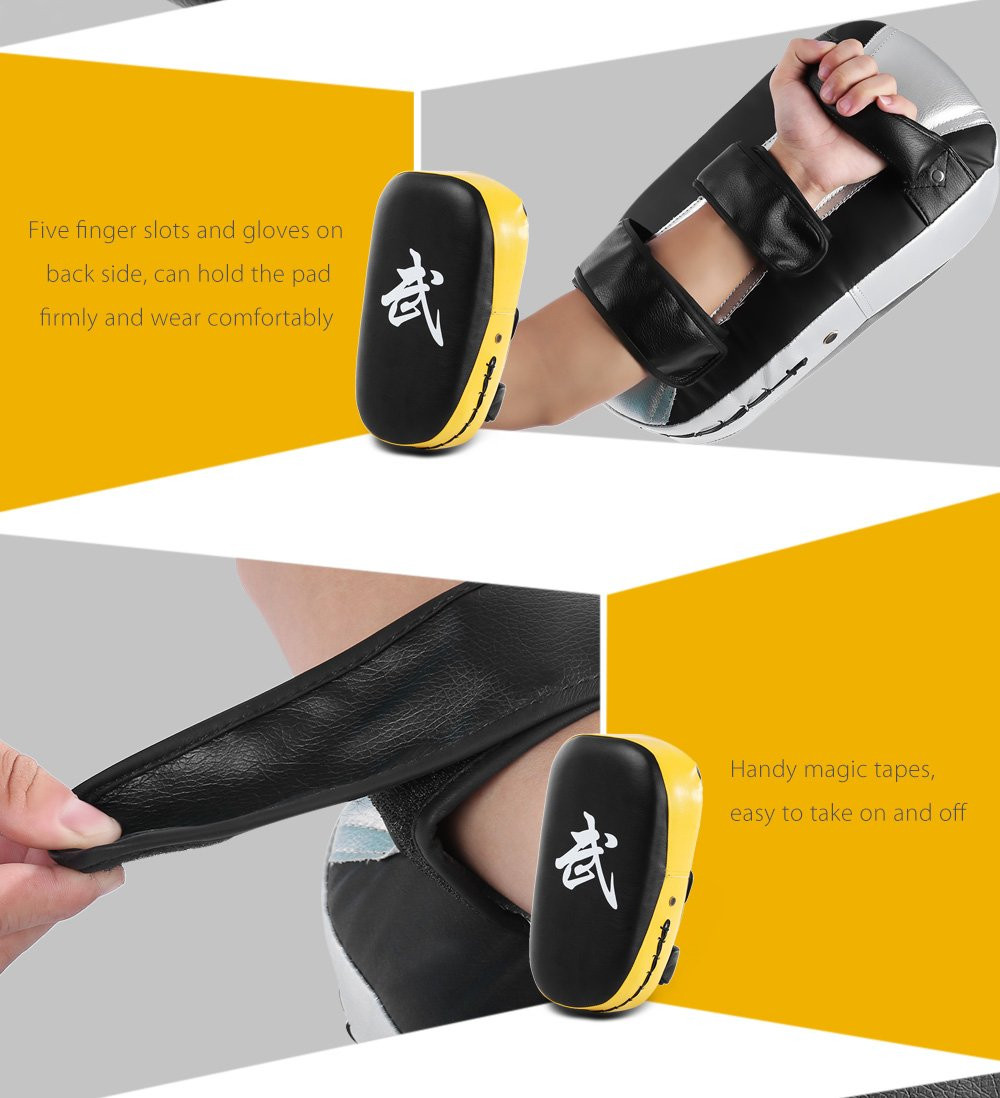 Azul BISOZER-Fitness Taekwondo Kick Pads Boxing Karate Pad Cuadrado PU Cuero Muay Thai MMA Arte Marcial Kickboxing Punch Mitts Punching Bag Kicking Shield Training