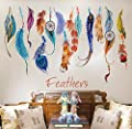 Gillberry Classic Creative Dream Catcher Feather Wall Sticker Art Decal Mural
