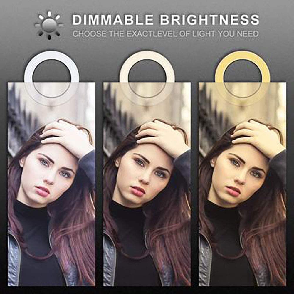 6 Inches with Ring Stand Desktop LED Light with 3 Lighting Modes and 11 Brightness Levels SUPERHUA LED Ring Light Mini LED Camera Light with Phone Holder for YouTube Videos and Makeup