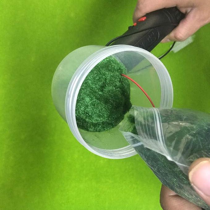 Mini Portable Electrostatic Flock Applicator Scene Model Grass Plant Landscape