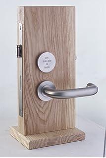Union Swallow Bathroom Door Handle LH Pair Satin Aluminium
