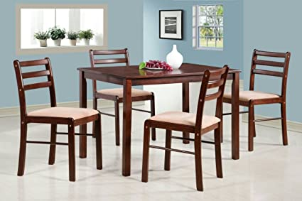T2A Nobis Solid Wooden Four Seater Dining Table Set for Home (Matte Finish, Brown)