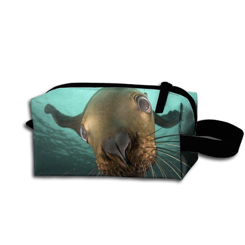 Makeup Cosmetic Bag Animals Sealife Zip Travel Portable Storage Pouch For Men Women