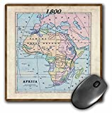 3dRose LLC 8 x 8 x 0.25 Inches Mouse Pad, Old Map of Africa (mp_39006_1)