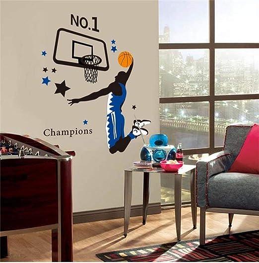 SOSO Tatuajes de pared Home Basketball Number 1 Champion Wall Art ...