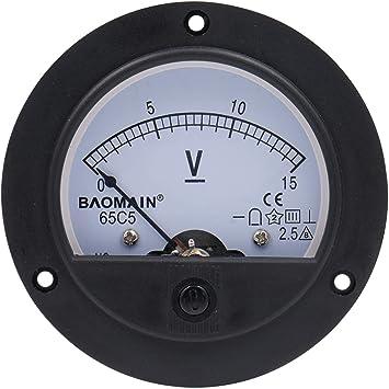1Pcs Analog Panel Voltmeter Volt Meter DC 0-10V Measuring Range 44C2