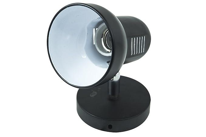 Applique portalampada lampadina e muro parete orientabile p