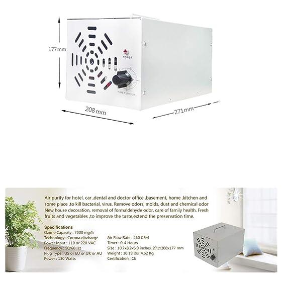 GRASSAIR Generador de ozono Comercial 7000mg Industrial O3 purificador de Aire desodorizador esterilizador: Amazon.es: Hogar