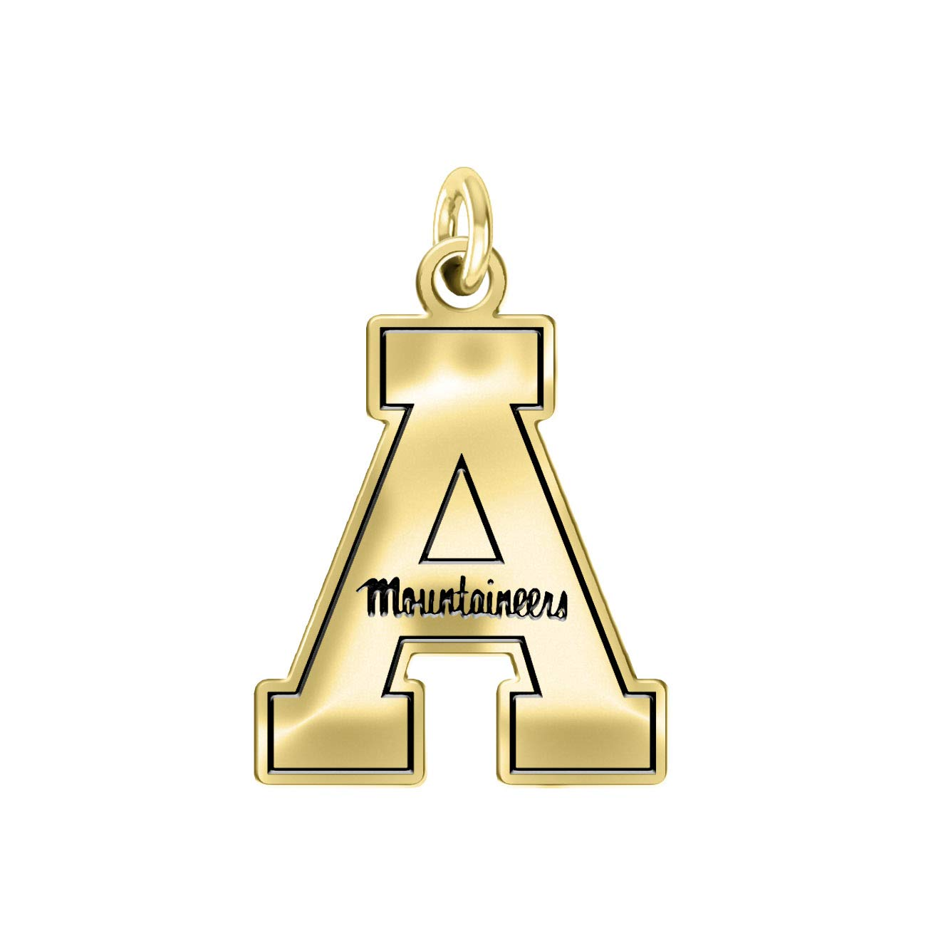 College Jewelry Appalachian State University Mountaineers 14k Yellow Gold Cut Out Logo Charm