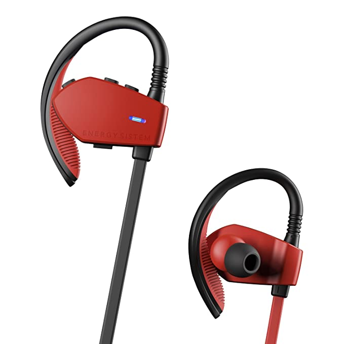 Energy Sistem Sport 1 - Auriculares Deportivos in-Ear (Sistema Secure-fit, Bluetooth, sin Cable) Rojo: Amazon.es: Electrónica