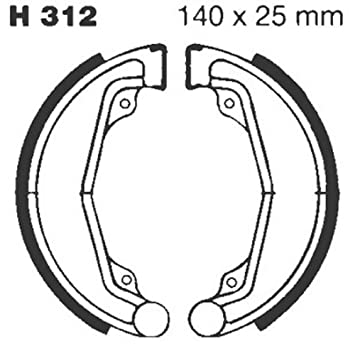 EBC Brake Shoes for Drum Brake with Springs Type H312