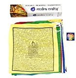 Mudra Crafts Tibetan Buddhist Indoor Outdoor Cotton Affirmation Windhorse Prayer Flags (13×13 Green Tara) Review