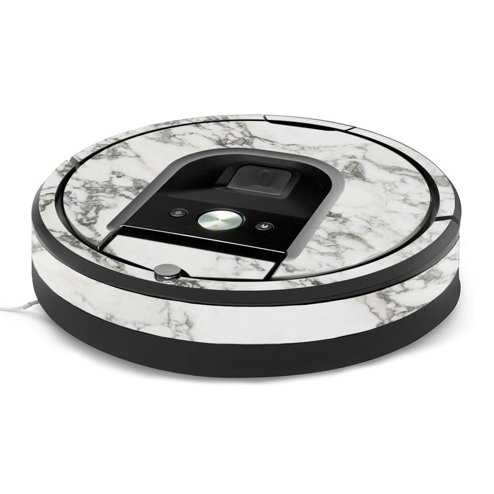 MightySkins Skin for iRobot Roomba 960 Robot Vacuum - White Marble | Protective, Durable, and Unique Vinyl Decal wrap Cover | Easy to Apply, Remove, and Change Styles | Made in The USA