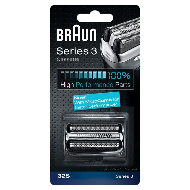 Braun Replacement Foil & Cutter Cassette - 32S, Series 3 - Silver 65774761 hirabat-7364153
