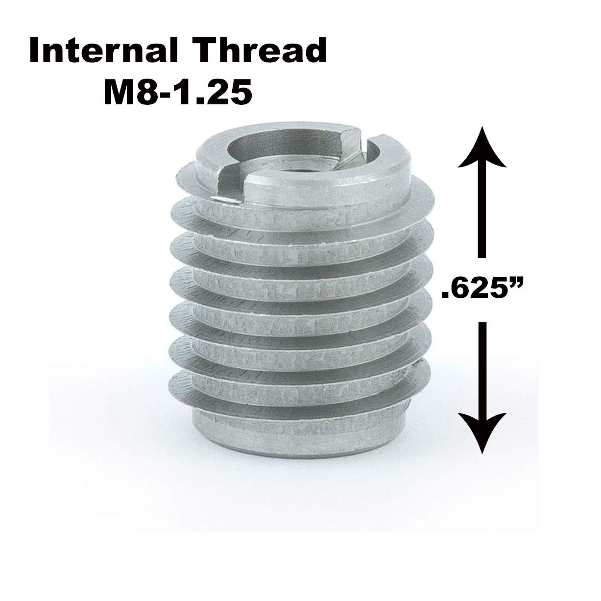 #6-40 Thread Size Pack of 10 E-Z Lok SK30420 Helical Threaded Insert Kit 0.276 Installed Length 304 Stainless Steel