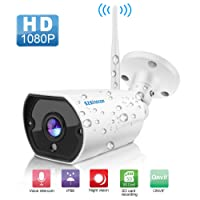 Outdoor Security Camera, SZSINOCAM Wireless Camera WiFi 1080p Cam Wireless Ip Waterproof Night Vision Surveillance System with Two-Way Audio, Motion Detection, Activity Alert