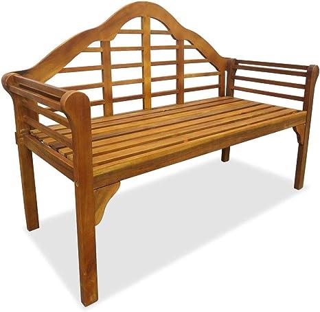 Gartenbank 2 Sitzer Holzbank 135 Cm Massivholz Akazie Gartenmobel Aus Holz Massivholz Bank Fur Terrasse Balkon Amazon De Kuche Haushalt
