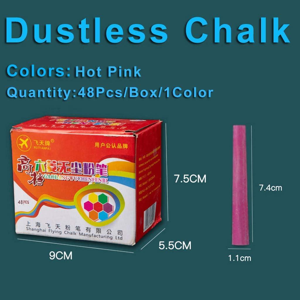 Colourful Chalks Pavements Sticks Assorted Art Floor Dustless Chalks 48Pcs//Box