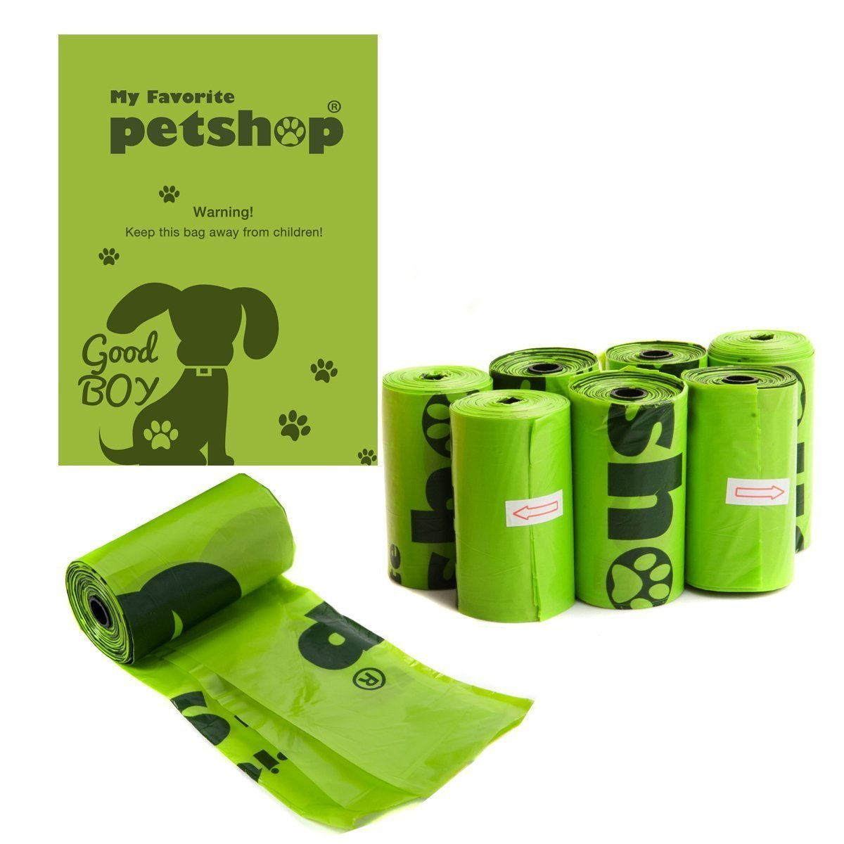 Favorite Bolsas para excrementos de Perro, Color Verde, 120 Unidades