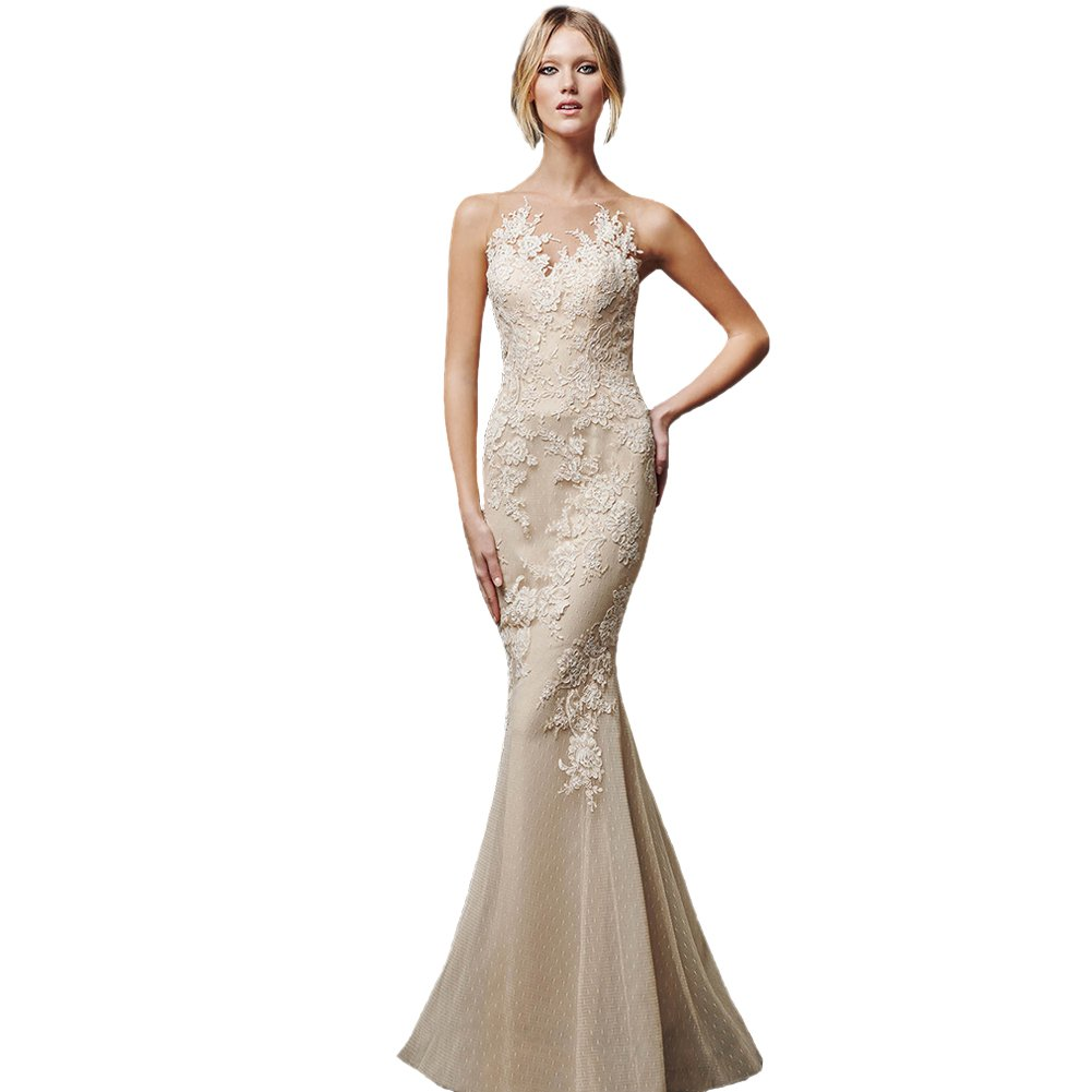 Love Dress A Line and Mermaid Prom Dress Women Bridesmaid Dress Champagne Us 16