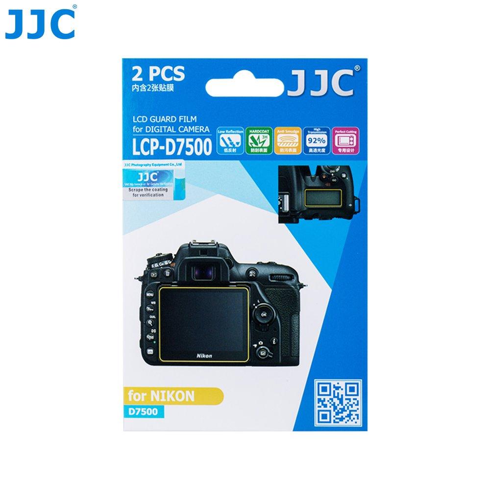 JJC 2PCS PET Film Screen Protector for Nikon D7500 DSLR Digital Camera includes Shoulder Screen Sub screen Protector