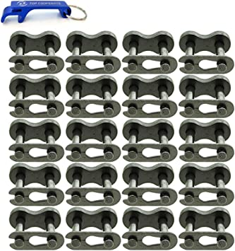 PAGOW 20pcs 420 Chain Master Link Roller 420 Master Connector Link for 50cc 70cc 90cc 110cc 125cc Pit Dirt Bike ATV Quad Buggy