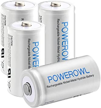 Amazon.com: POWEROWL - Pilas AA recargables, 2800 mAh, alta ...