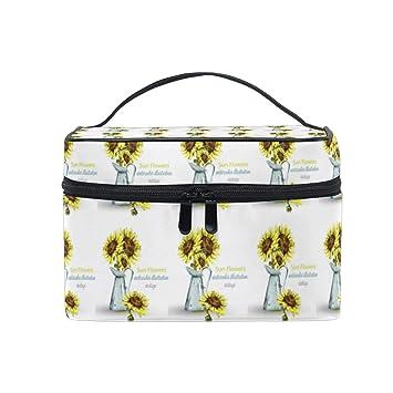 7f3c0008c8d6 Cosmetic Bag Sunflowers BouquetTravel Makeup Brush Organizer ...