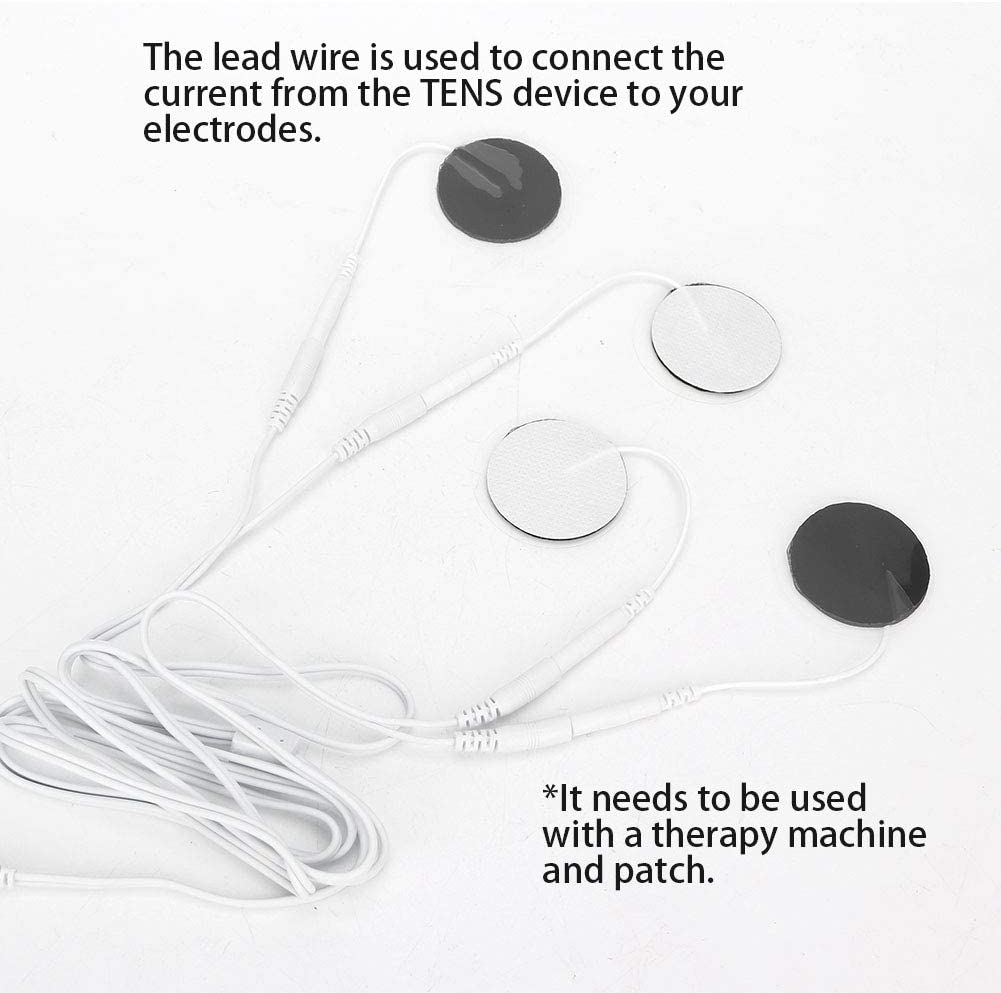 Replacement TENS Units Wires Connect Cables for TENS Electronic Massage Machine,Pack of 10 4 Pins Antilog Electrode Wires,TENS Wire Premium Lead Wires for TENS Cable