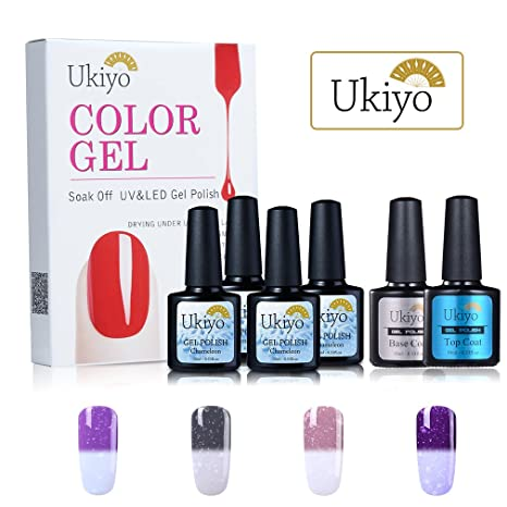 Cambia de Color Gel polaco nieve Temperatura de uñas de gel (Base y capa superior