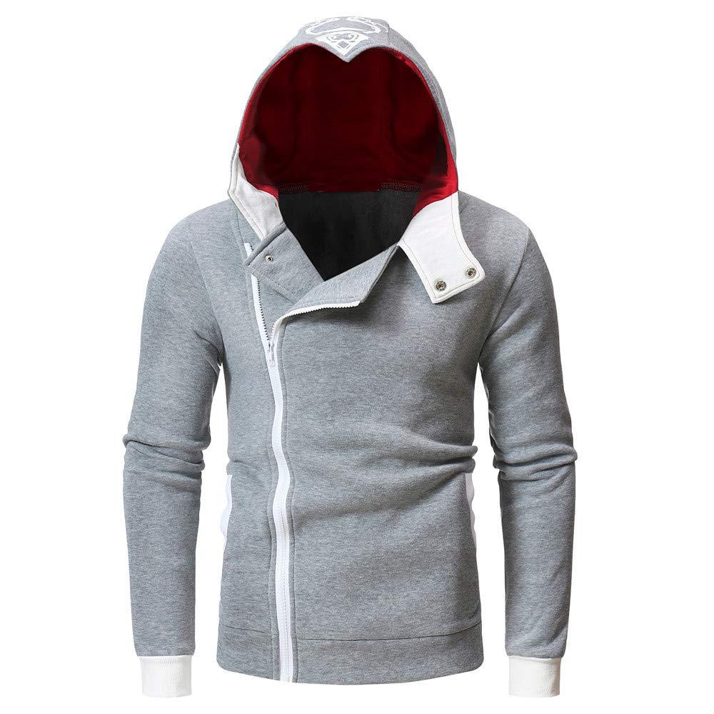KPILP Sweatshirt Herren Kapuzenpullover Stilvolle Strickjacke Herbst Langarm Bedruckt Schlank Hoodie mit Kapuze Oberteile T Shirt Outwear