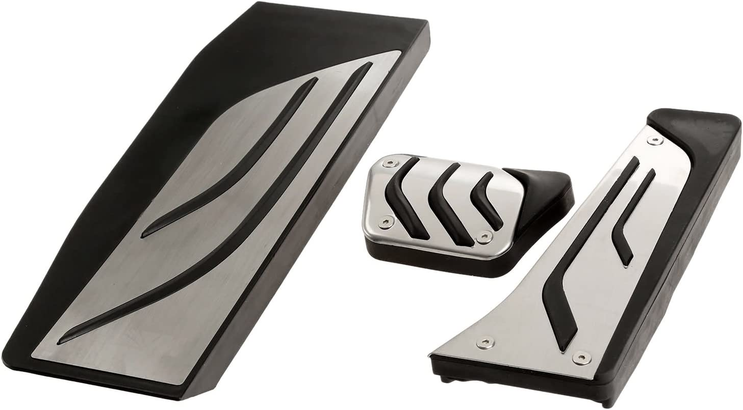 Mtsooning 3 Pcs Pedals Stainless Steel Foot Rest Pedal Cover Set for BMW 1 3 4 Series F20 F30 F31 F32 F33 F34 F36