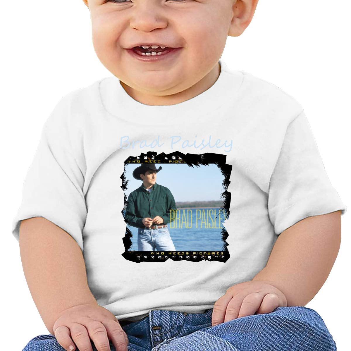 Baby Brad Paisley Who Needs Pictures Shirt Toddler Cotton Tee