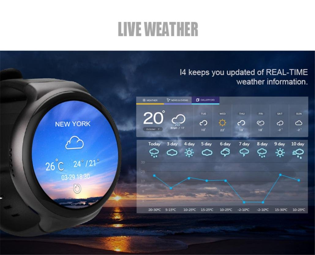 Smart Watch Bluetooth 4.0 Heart Rate Sleep Monitor Pdometer Waterproof Smart Band IOS Android (Silver-Black)