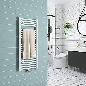 Meyloops Badkamerradiator Middenaansluiting Handdoekdroger Handdoekverwarmer Design Radiator Wit Antraciet Verwarming Radiator Voor Badkamer En Woonkamer 1000x400mm Wit Amazon Nl