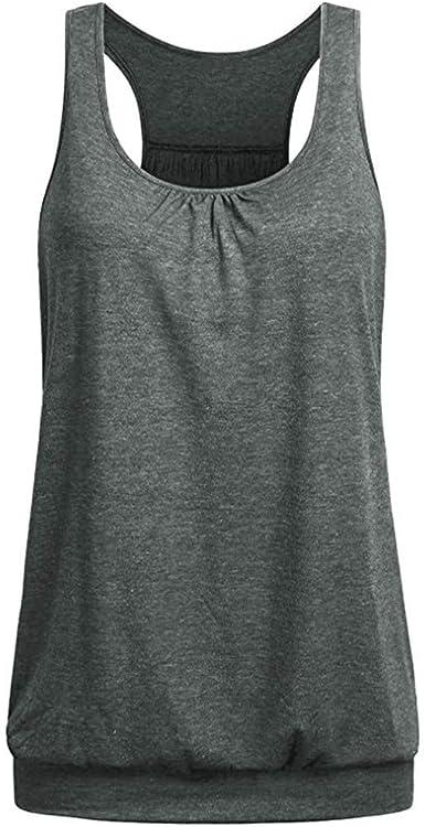Women Yoga Tops Sports Tank Vest Open Back T-Shirts Exercise Sleeveless Gym Tops
