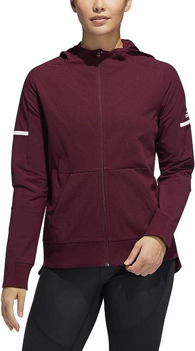 adidas maroon jacket women's
