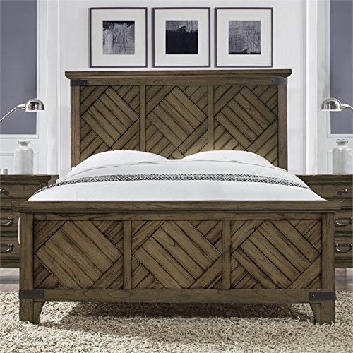 Lifestyle Solutions Boston Queen Panel Bed in Vintage Brown ()