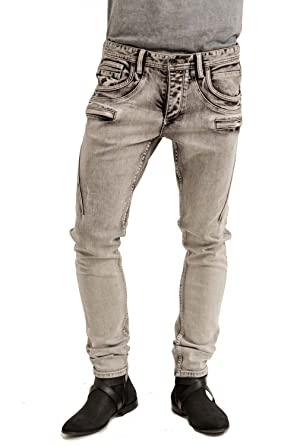 c5cce93af48c6 trueprodigy Casual Herren Marken Jeanshose mit Stretch Hose Cool Stylisch  Denim Vintage Destroyed Slim Fit Jeans Männer