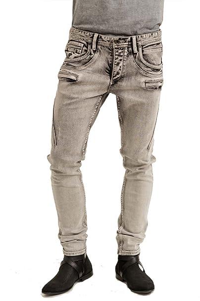 trueprodigy Casual Hombre marca Jeans Pantalon elastica ropa retro vintage rock vestir moda deportivo vaquero slim