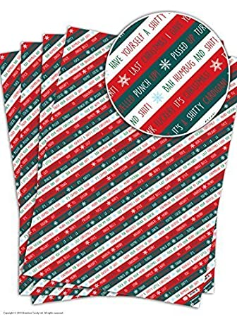 4 sheets of funny rude humorous xmas stripe christmas gift wrap 4 sheets of funny rude humorous xmas stripe christmas gift wrap solutioingenieria Images