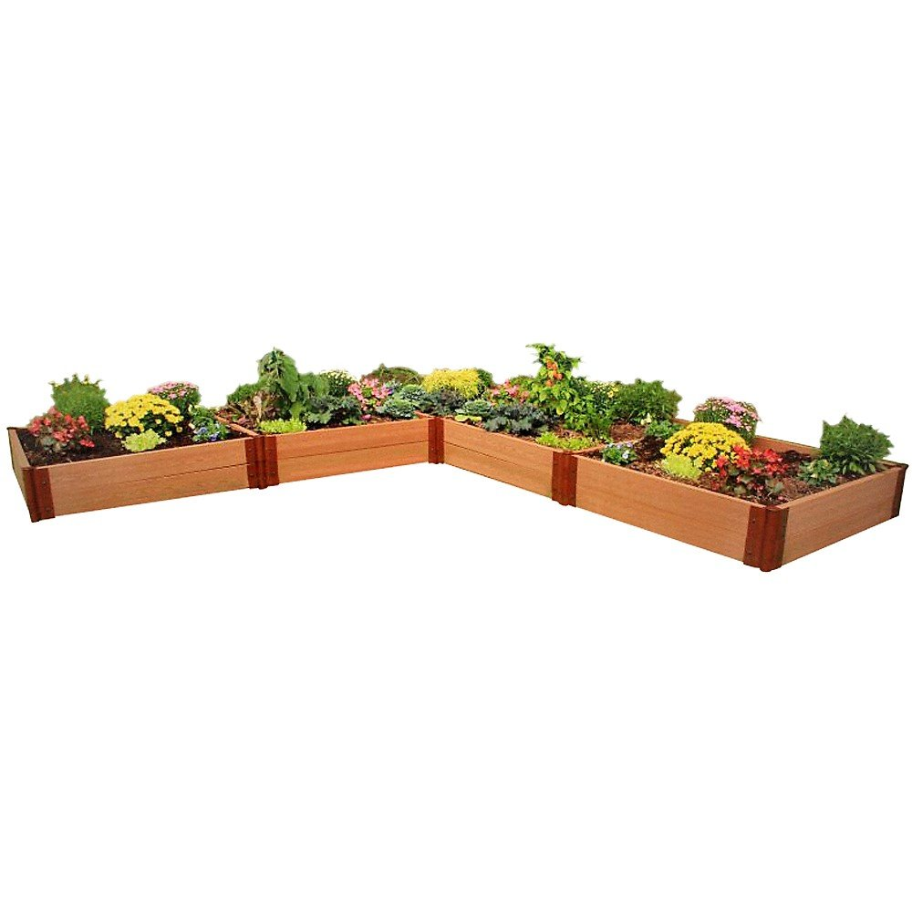 Frame It All Two Inch Series Composite L Shaped Raised Garden Bed Kit, 12' x 12' x 11''
