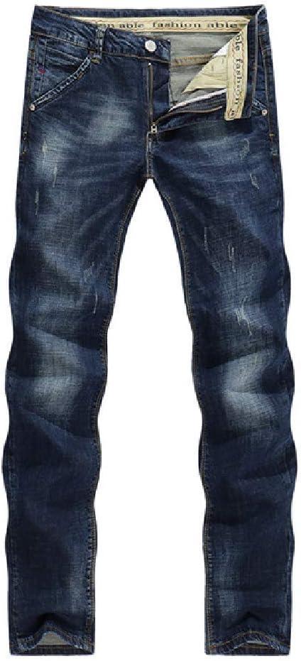 Rcto Pantalones Vaqueros Para Hombre Clasico Estiramiento Directo Azul Oscuro Business Casual Pantalones De Mezclilla Pantalones Largos Rayados Delgados Caballero Vaqueros Amazon Com Mx Ropa Zapatos Y Accesorios