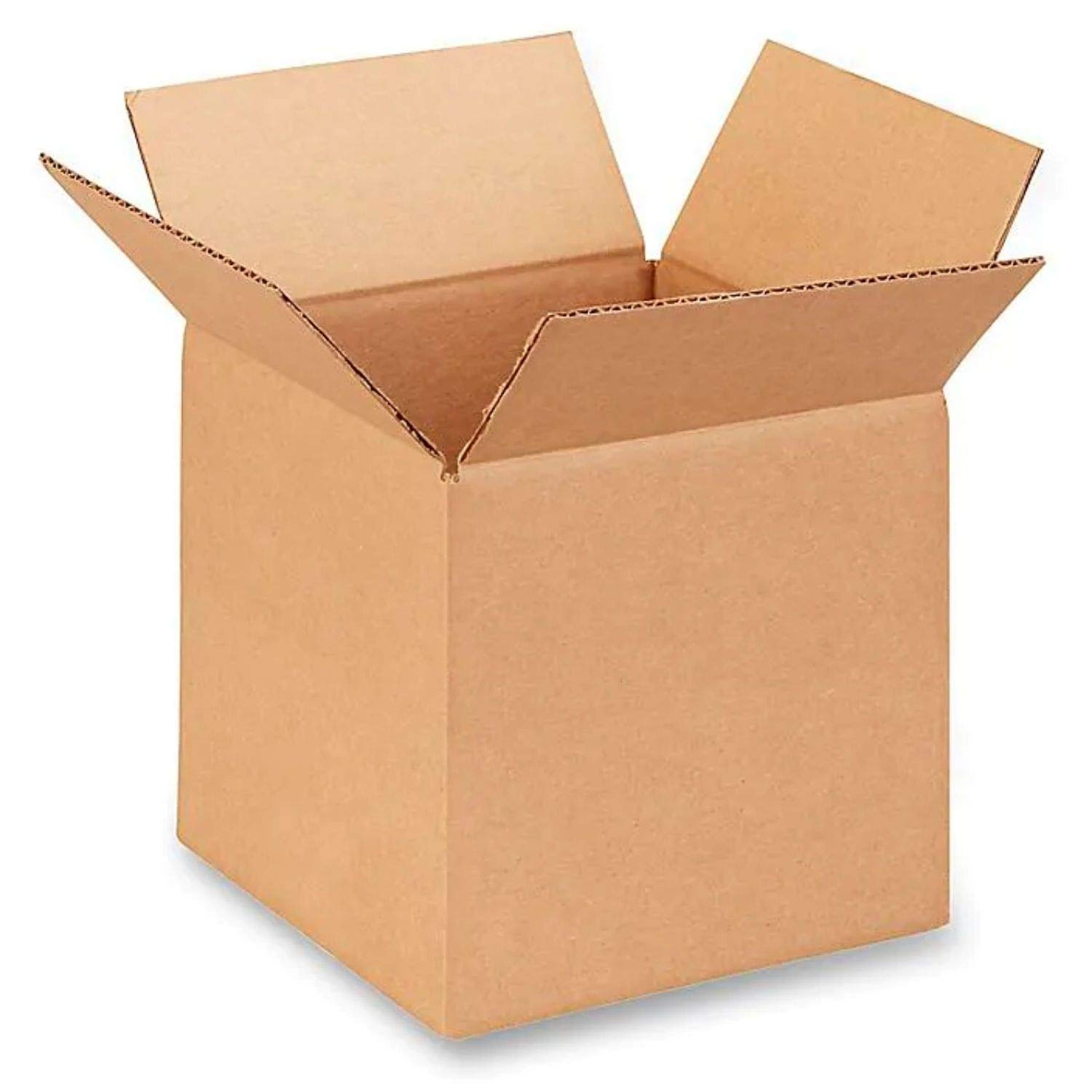 """IDL Packaging Cube Corrugated Shipping Boxes 10""""L x 10""""W x 10""""H (Pack of 5) - Excellent Choice of Sturdy Packing Boxes for USPS, UPS, FedEx Shipping,B-101010-5"""
