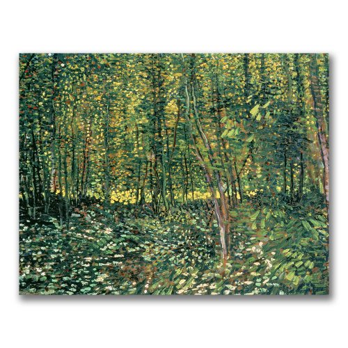 Trees and Undergrowth, 1887 by Vincent van Gogh, 35x47-Inch Canvas Wall Art (Landscape Gogh Vincent Van)