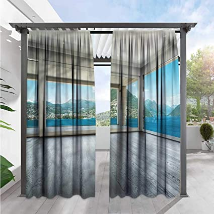 Amazon.com : Marilds Landscape Balcony Curtains Ocean Forest ...