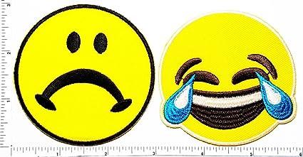 amazon com set of 2 crying emoji sad frowny face emoticon emoji